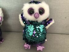 "New Ty Beanie Boos 6"" Sparkle The Special Owl Plush Stuffed Toy Gift"