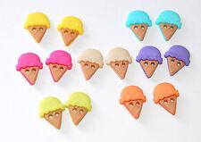 Sew Cute Ice Cream Cones /Jesse James Dress It Up Buttons / Sew-Thru Style #6933