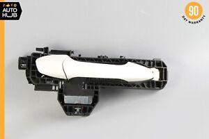 10-15 Mercedes X204 GLK350 Rear Right Side Exterior Door Handle White OEM 24k