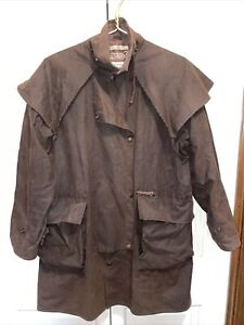 Driza-Bone Oilskin Oilcloth Short Duster Riding Short Coat Brown Size 3 XS
