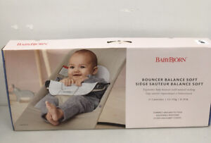 BabyBjorn Balance Soft Jersey Baby Bouncer - Dark Grey/Light Grey