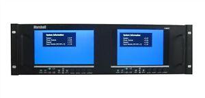 "Marshall Electronics V-MD72-HDSDIX2 Dual High Resolution LCD Monitor 7"" Video"