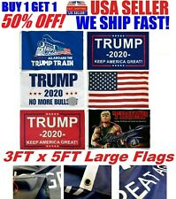 Trump 2020 Flag 3x5 Feet Keep America Great MAGA KAG Flags Banner Tank Rambo RED