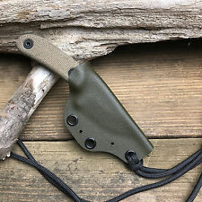 Custom Handmade OD Green Kydex Sheath For ESEE Candiru Fixed Blade Knife