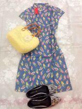 new style blue Chinese women's cotton evening dressMINI Cheongsam SZ:S-XL