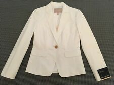 Banana Republic Ladies White Blazer - Size 0 Petite