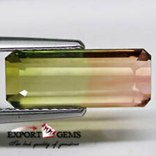 FLAWLESS 3.58CT NATURAL BI COLOR TOURMALIN OCTAGON