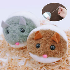 2pcs Cat Toys Plush Fur Toy Shake Movement Mouse Mechanical Rat Interactive Bite