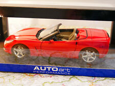 AUTO ART CHEVROLET CORVETTE C6 CONVERTIBLE RED 2005  ART. 71221  1:18  NEW