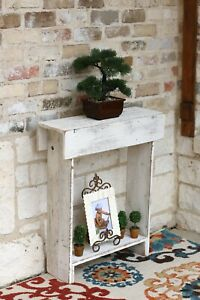 Rustic Skinny Wall Table