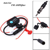 Car Amp Amplifier Booster Inline Stereo FM&AM Radio Signal Antenna Aerial Signal