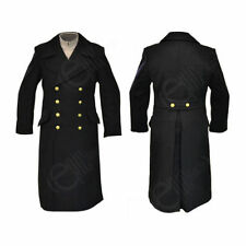 Woolen Long Military Double Breasted Coats & Jackets for Men