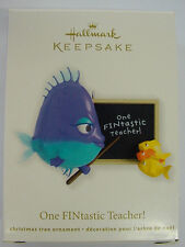 NIB 2012 HALLMARK CHRISTMAS ORNAMENT ONE FINTASTIC TEACHER