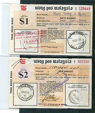 MALAYA/MALAYSIA 1991 POSTAL ORDER $1 & $2  # 4