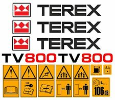 TEREX TV800 ROLLER DECALS STICKERS