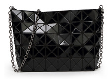 f455b5c354aa High Quality BAO BAO Issey Miyake Metallic BLACK Clutch Shoulder Bag NEW