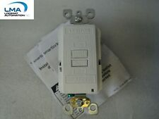 10X LEVITON 012 AFRBF-W ON/OFF TEST RESET SWITCH 20A 125V WHITE LIGHTED *NEW