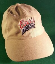 Coors Light Beer Tan Ball Cap with China 'The Dragon' Smith on the Back of Hat