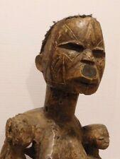 Antique Tanzania Mozambique Makonde Fertility Twins Woman Wood Statue Sculpture