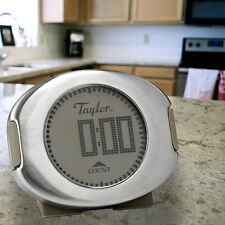 Taylor Digital Kitchen Electronic Timer Clock Brushed Stainless Steel 511LD