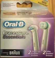 *4 ORAL-B Braces Care Replacement Toothbrush Tooth Brush Heads Orthodontics NEW