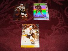 Ray Bourque 3 Hockey Card & Insert Lot /  McDonald's Hologram / Boston Bruins