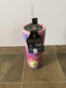 NEW TAL 24oz Ranger Tumbler Pink Marble Swirl Stainless Steel Beverage Holder