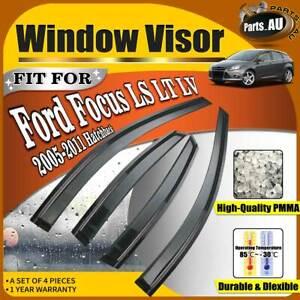 4x Weather Shield Window Visor for Ford Focus LS LT LV 2005-2011 Hatchback