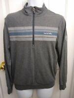 Travis Mathew Quarter Zip Sweatshirt Blue and Gray Mens Size Small Turner Hill