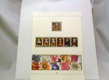 El rey Enrique VIII y sus seis esposas saludos sellos pinturas de flores 19th-Century