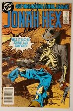 JONAH HEX #92 (DC 1985) *LAST ISSUE (HTF)* (CANADIAN PRICE VARIANT) FN+/VF-