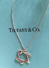 "Tiffany & Co. Elsa Peretti Star of David Motif Necklace 925 Sterling 17"""