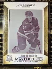 Jack Roslovic 17-18 The Cup Rookie Masterpieces Magenta Printing Plate 1 Of 1