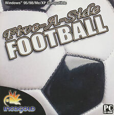 FIVE-A-SIDE FOOTBALL (Soccer) Sports Sim Simulation for Windows PC Game NEW XP
