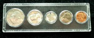 1950-d SILVER US Mint Set Gem BU Coins In Whitman Plastic Holder