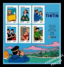 Les Voyages de TINTIN bloc 6 timbres bd 0,54€ France la poste croix rouge NEUFS