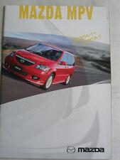 Mazda mpv brochure c2002 japonais texte