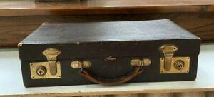 Birks England Vintage Leather Briefcase Lap Desk Writing Stand