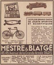 Z9675 MESTRE & BLATGE' - Meccano -  Pubblicità d'epoca - 1934 Old advertising