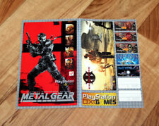 Metal Gear Solid / KKND2 Krossfire R-Type Rare Old Sticker Set PS1 Playstation 1