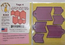 Cheery Lynn Design Die Cutter - Small tags ref: 4