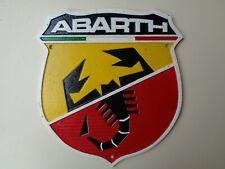 Heavy Cast attractive Metal Sign :- FIAT ABARTH scorpion 500 ref cm
