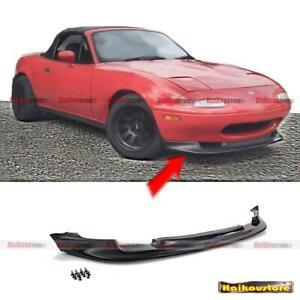 FOR 90-97 Mazda MIATA MX-5 2DR PU Black GV STYLE FRONT BUMPER CHIN LIP SPOILER