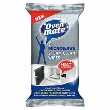 OVEN MATE MICROWAVE STEAM CLEAN WIPES 25 LEMON SCENT WIPES HEAT ACTIVATED 81568