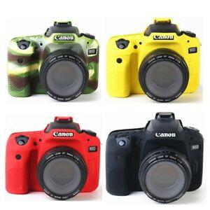 Silicone Armor Skin Case Body Cover Protector for Canon EOS 90D DSLR Camera
