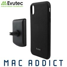 Evutec AERGO Ballistic Nylon Case W/ AFIX+ Vent Mount For iPhone XS Max - Black