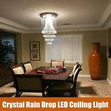 Modern Rain Drop LED K9 Crystal Chandelier Pendant Light Ceiling Lighting Lamp