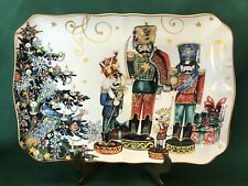NEW~1 Williams Sonoma TWAS THE NIGHT BEFORE CHRISTMAS ~ Nutcracker Platter