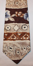 NEW Botany 500 Silk Neck Tie Beige and Brown with Floral Prints 1490