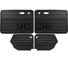 VW Door Panels, Full Set w/Pockets, Black Smooth Vinyl, Beetle Convertible 67-72